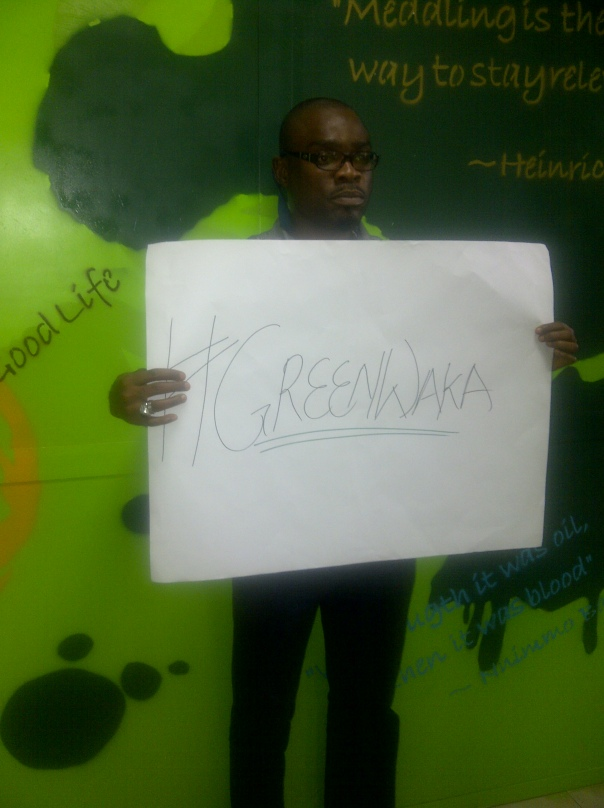 Posing for #GreenWaka